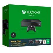 Console Xbox One Com 500gb E 1 Ano De Garantia + 2 Controles Sem Fio + Live Gold 3 Meses + Bivolt