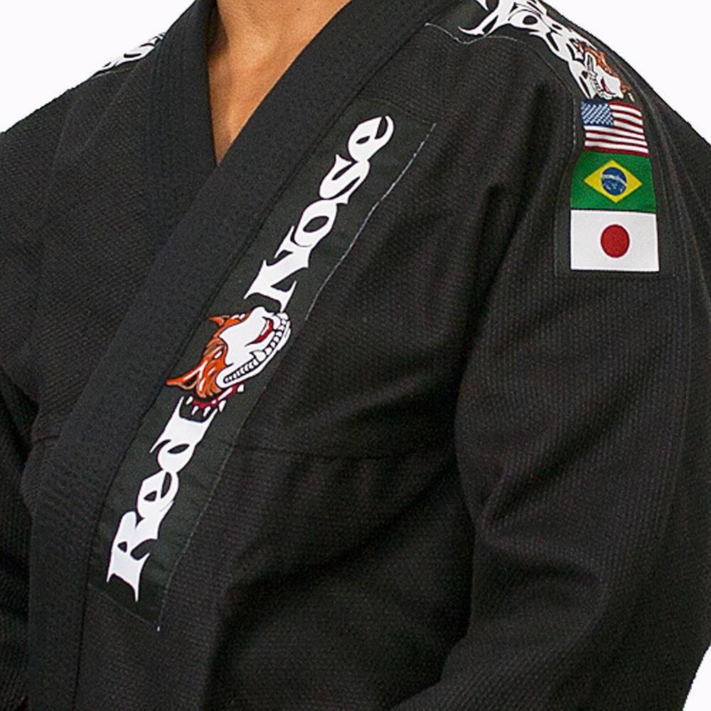 Kimono Red Nose Top World Jiu-Jitsu - Preto A4