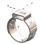 """Abraçadeira de Aperto Radial 1/4"""" de 9.2 a 10.9mm Inox 304"""