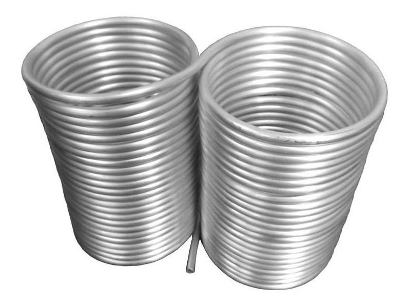 Serpentina Dupla em Aluminio Tubo 3/8