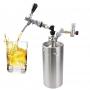 Chopeira Mini Keg 10 Litros com Ball Lock Torneira Italiana e Regulador de Pressão