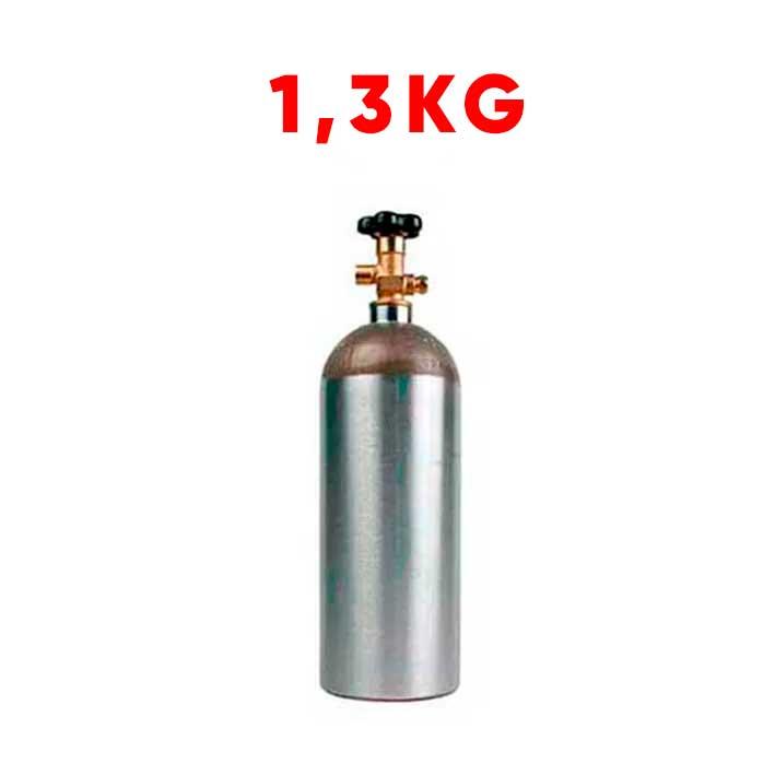 Cilindro de CO2 1,3kg em Alumínio (Vazio)