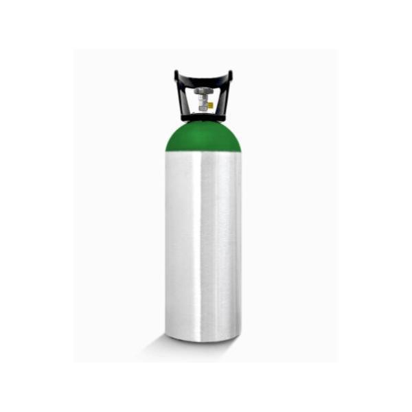 Cilindro de oxigênio em alumínio 1 metro.