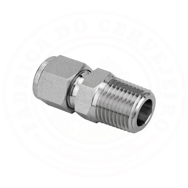 Conector de Compressão Rosca Macho MNPT 1/2