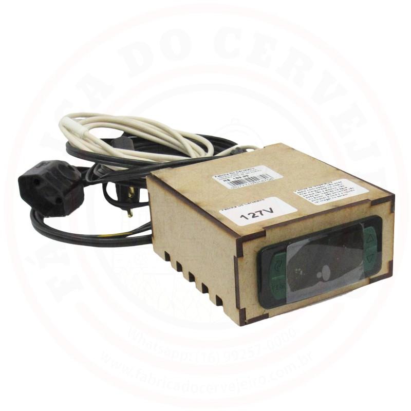 Controlador de Temperatura para Geladeira 127V Caixa de Madeira