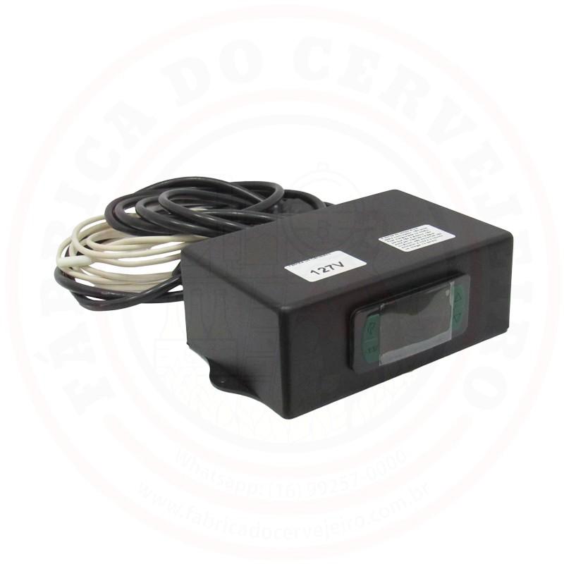 Controlador de Temperatura para Geladeira 127V Caixa de Plastico