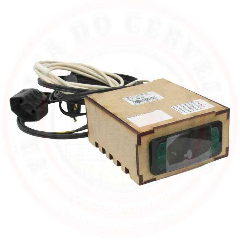 Controlador de Temperatura para Geladeira 220V Caixa de Madeira