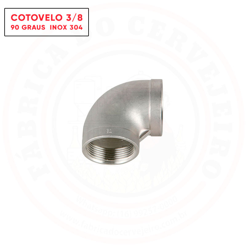 Cotovelo 90º Rosca Fêmea BSP 3/8