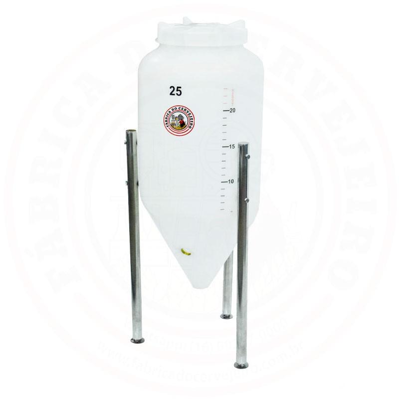 Fermentador Cônico Rotomoldado Roto Plus 25L Polietileno