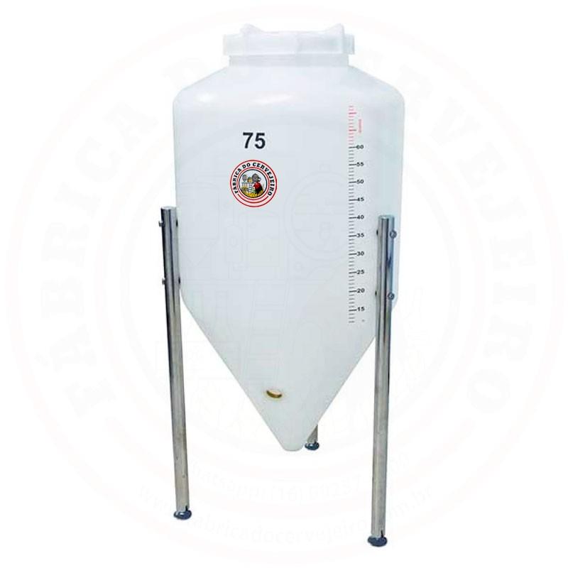 Fermentador Cônico Rotomoldado Roto Plus 75L Polietileno