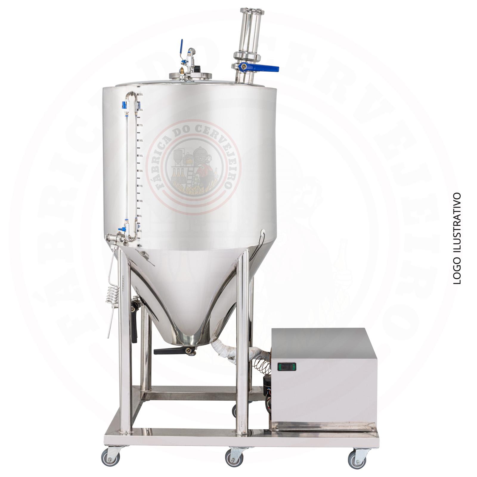 Fermentador Refrigerado 220 Litros util com dry hop inox 304