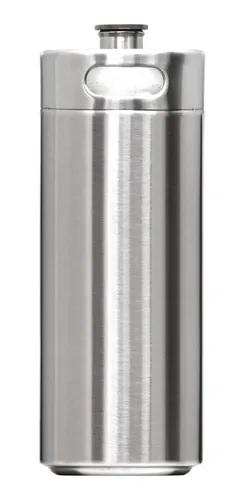 Growler Mini Barril de 4L Inox