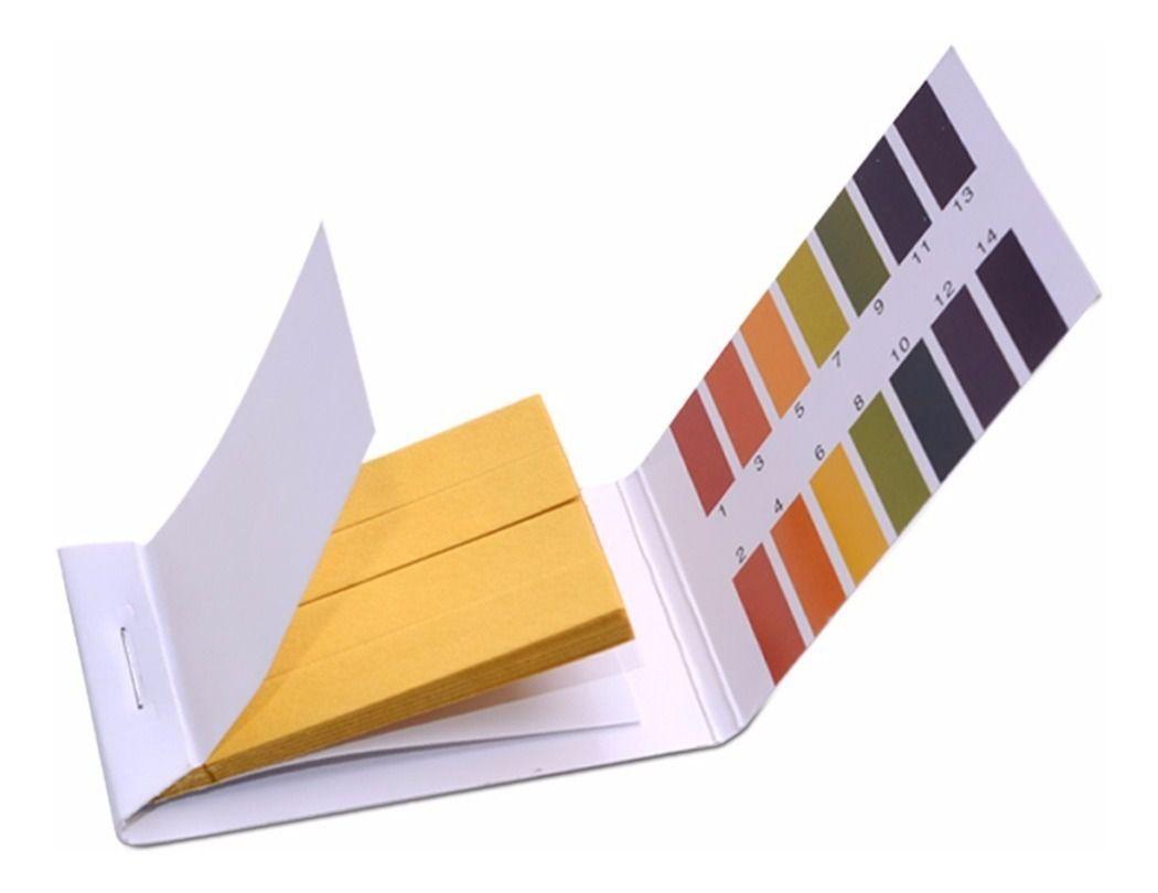 Indicador de pH em papel 1 a 14 com 80 Fitas