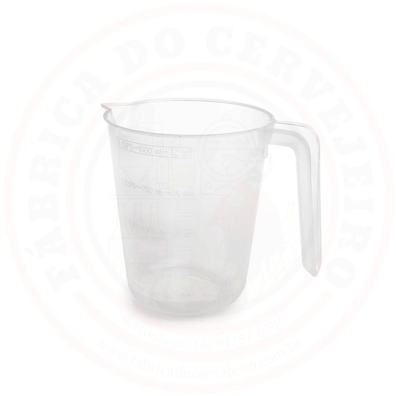 Jarra Cervejeira Graduada de 1 L Plástico