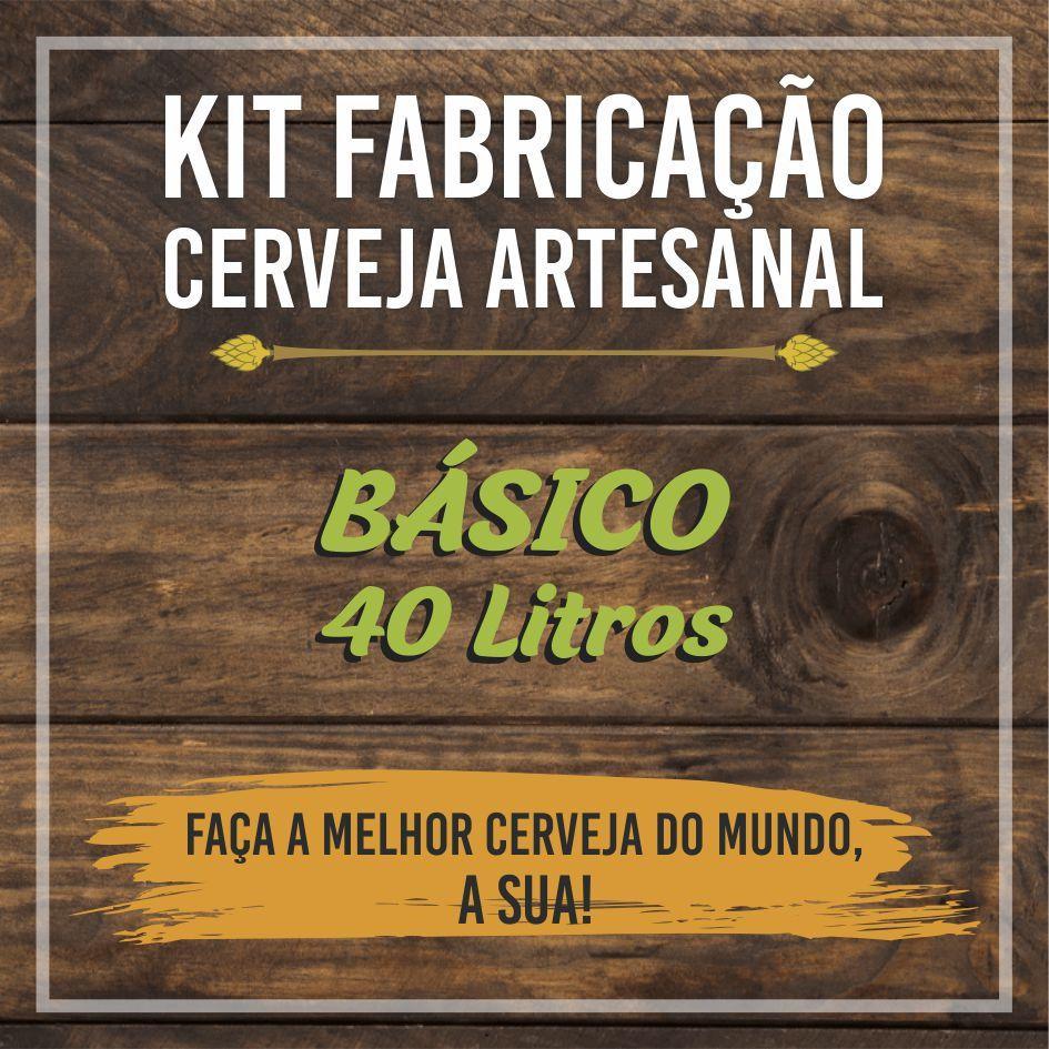 Kit Básico de Fabricação de Cerveja para 40L - BIAB
