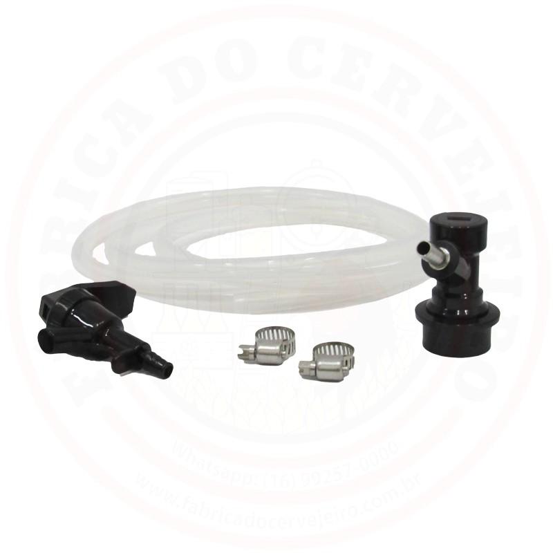 Kit Conector Ball Lock com Mangueira e Torneira Picnic