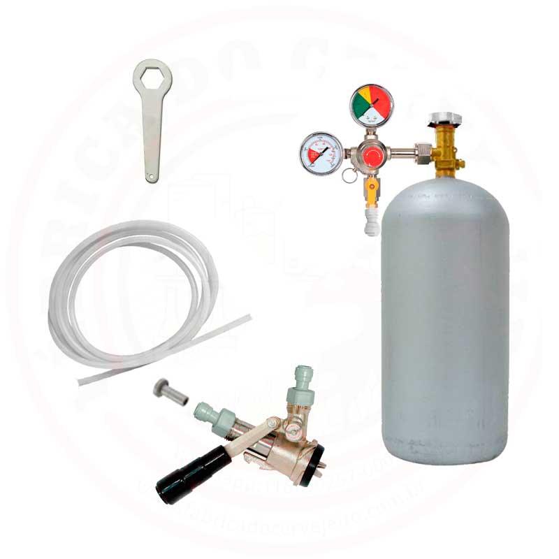 Kit de Extração do Barril Tipo S ou Carbonatação Forçada no Barril