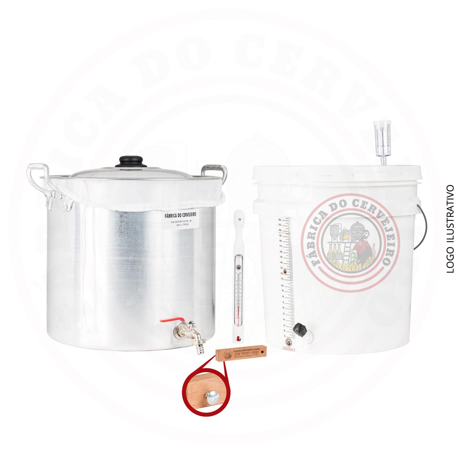 kit fabricação de cerveja básico com Biab 30L