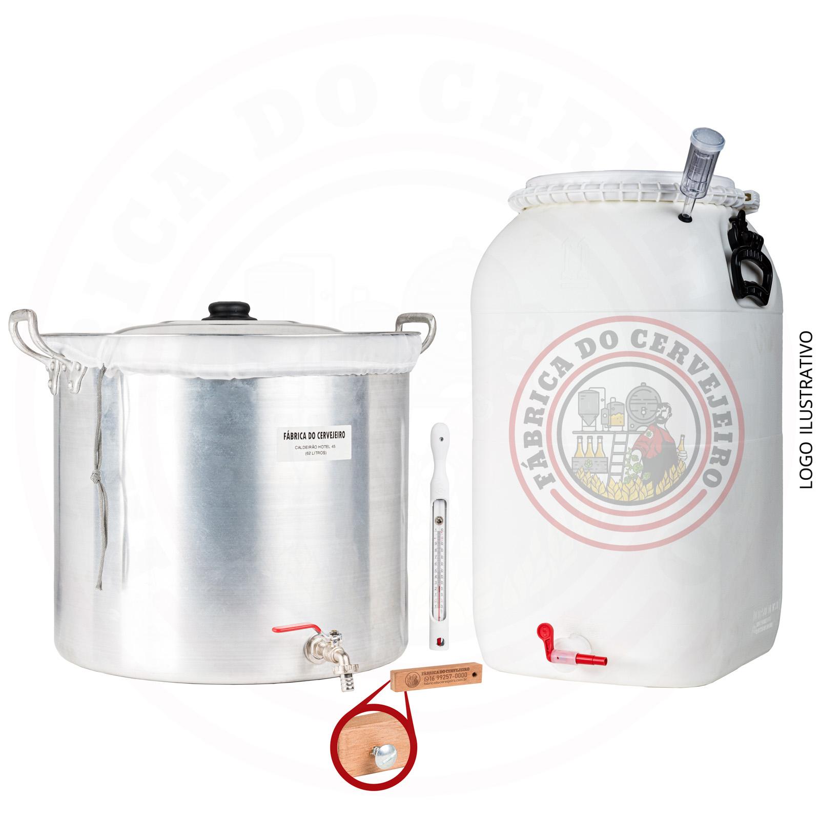 kit fabricação de cerveja básico com Biab 50L