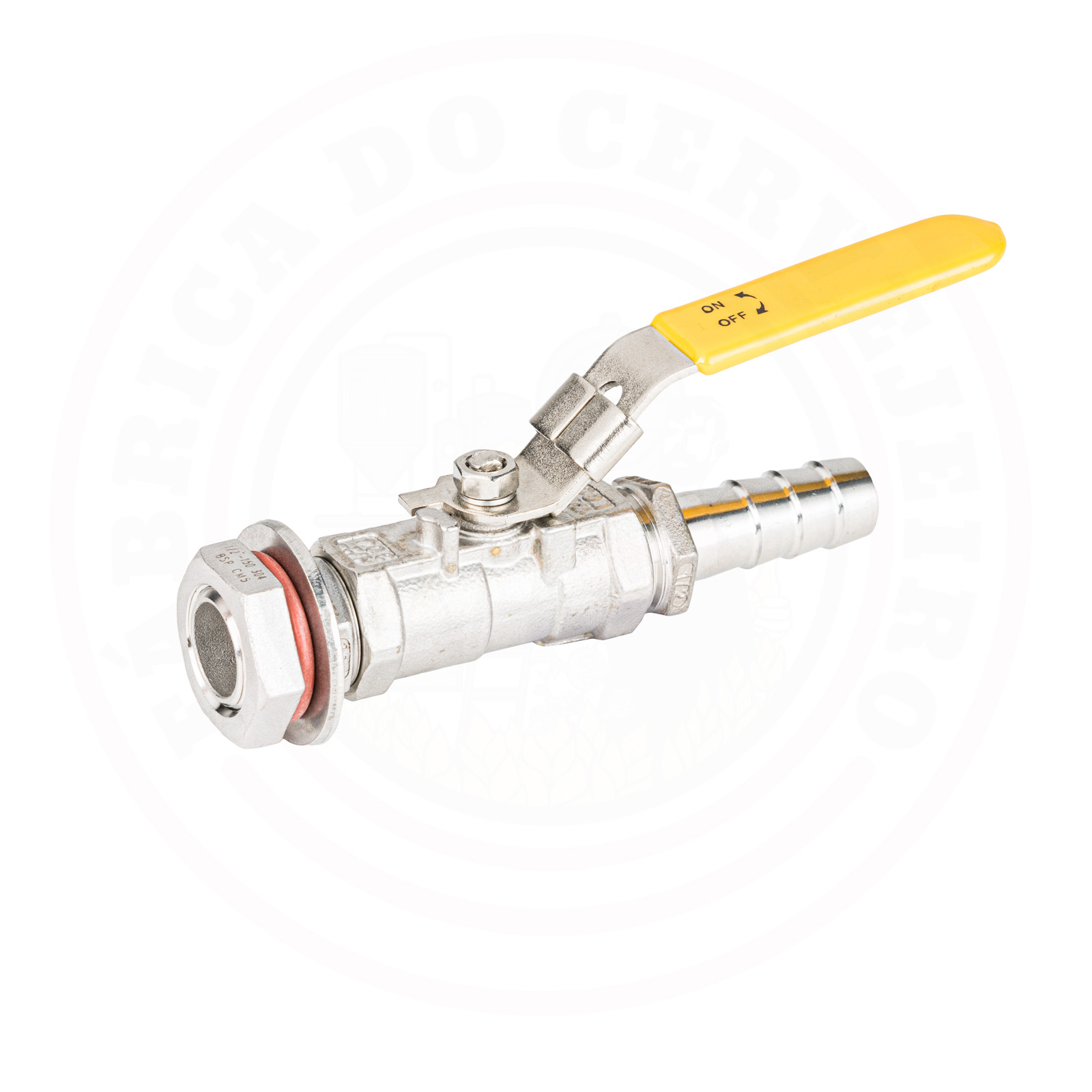 kit válvula / torneira inox Monobloco de 1/2  com espigão para caldeirão / panela
