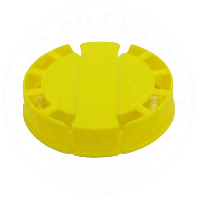 Lacre p/ Barril de Inox Kegcap Amarelo