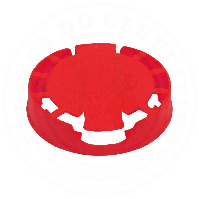 Lacre p/ Barril de Inox Kegcap Vermelho