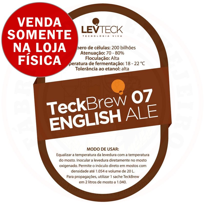 Levedura Levteck Teckbrew 07 English Ale para 20 Litros