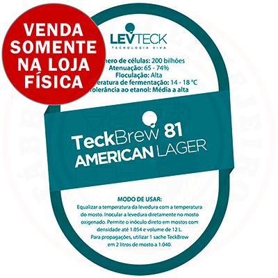Levedura Levteck Teckbrew 81 American Lager para 10 Litros