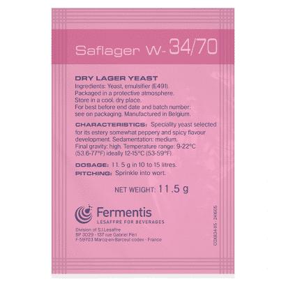 Levedura W 34/70 Fermentis Lager