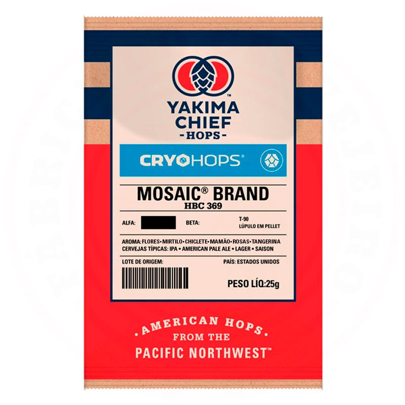 Lúpulo Mosaic CRYO HOPS Yakima Chief Hops 25g
