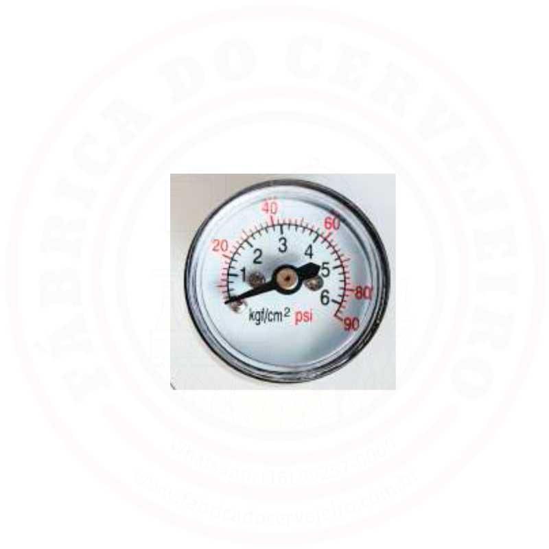 Manômetro Pequeno de Baixa Pressão para Mini Reguladores de CO2