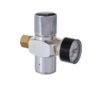 Mini Regulador de Pressão CO2 Cromado para Cápsula com Rosca