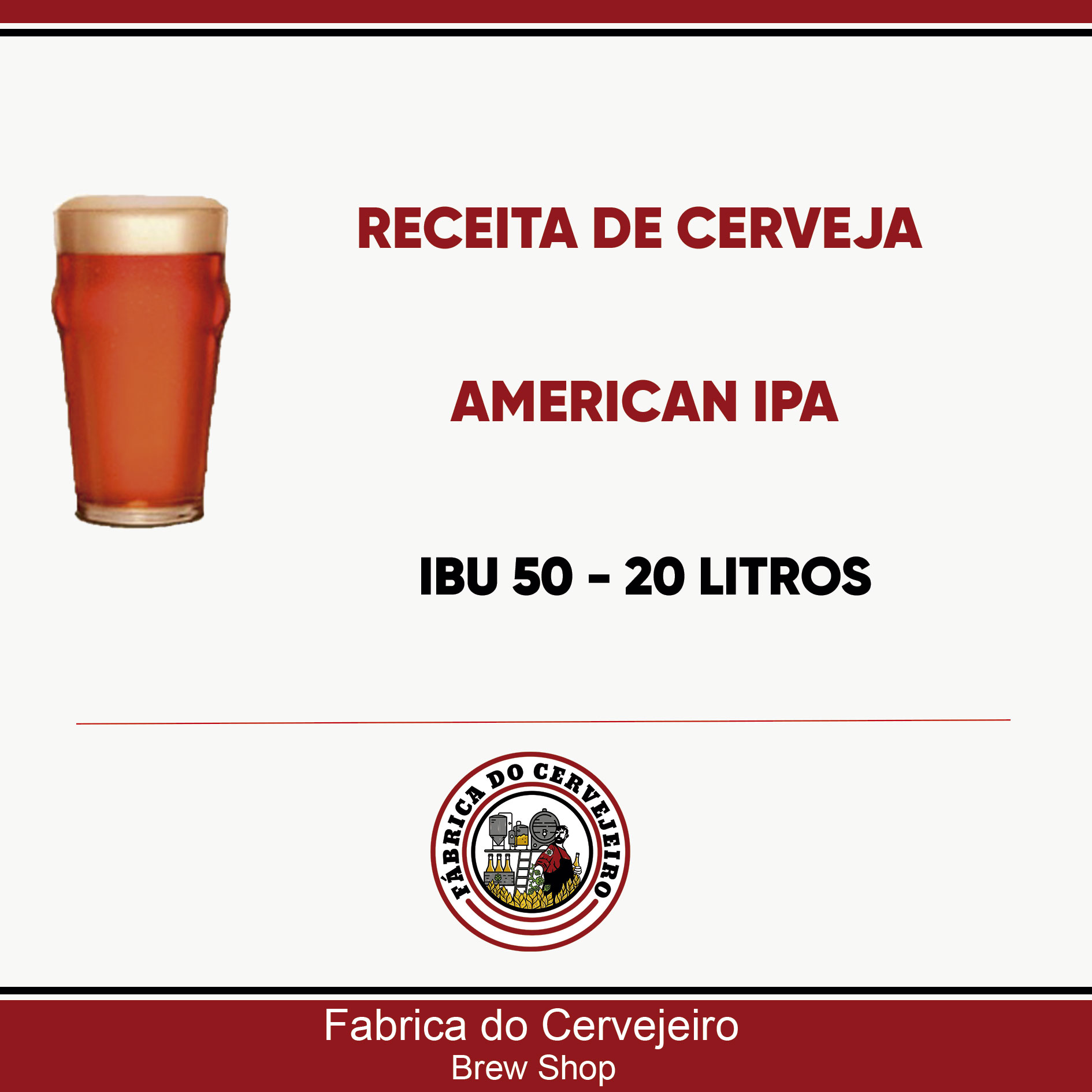 Receita de American IPA 20 Litros