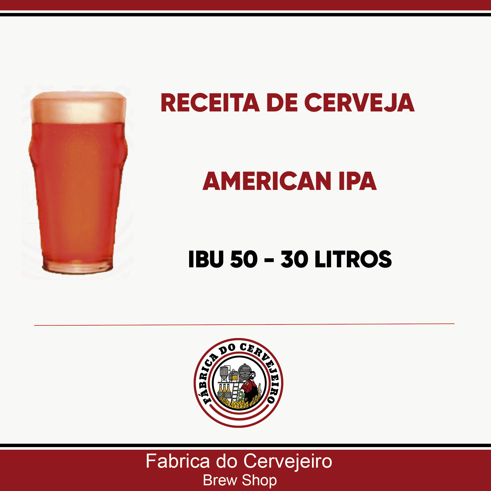 Receita de American IPA 30 Litros