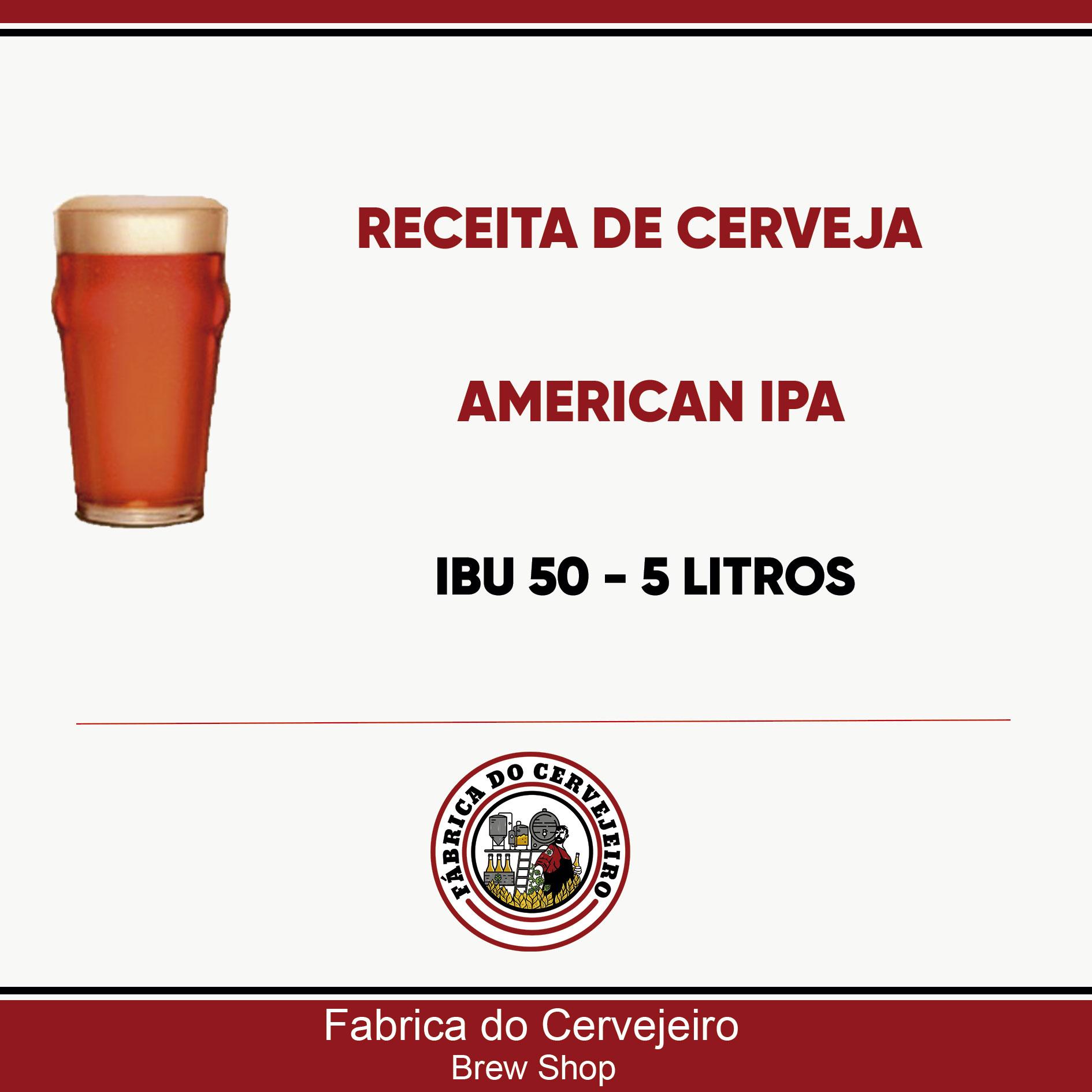 Receita de American IPA 5 Litros