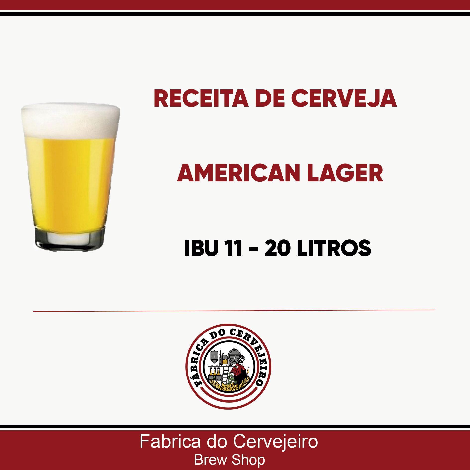 Receita de American Lager 20 Litros