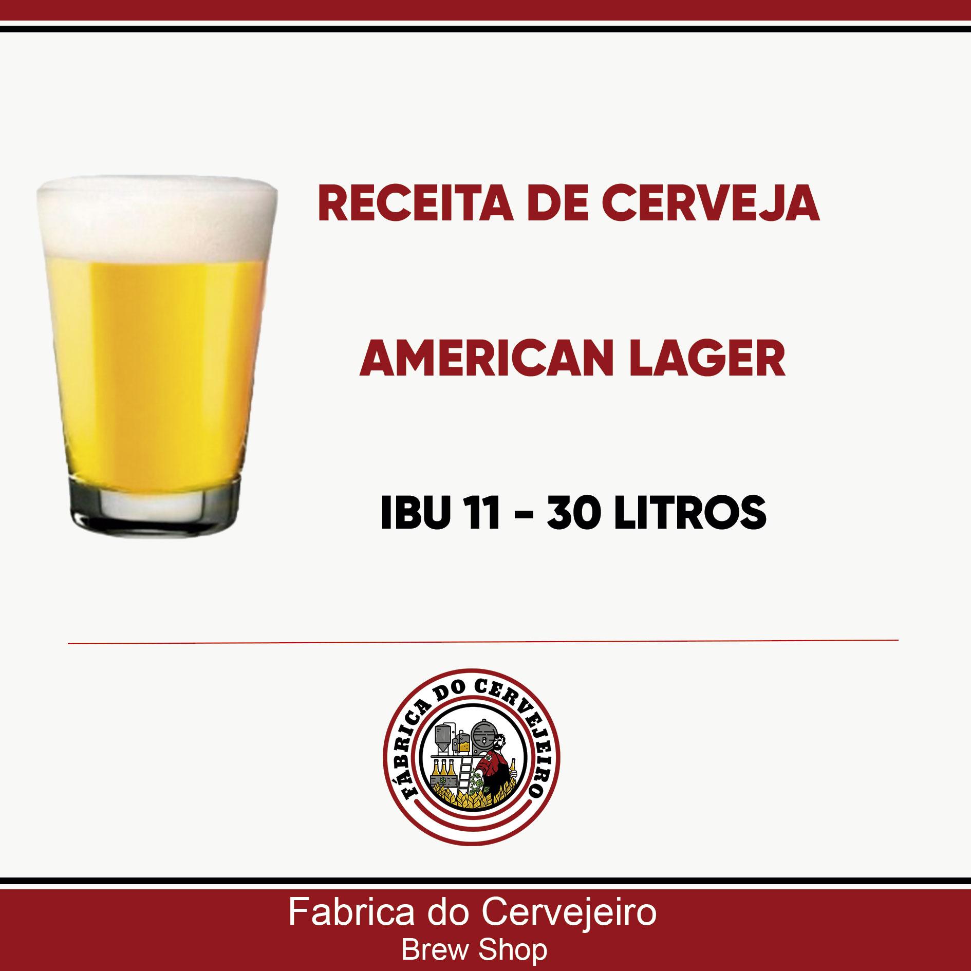 Receita de American Lager 30 Litros