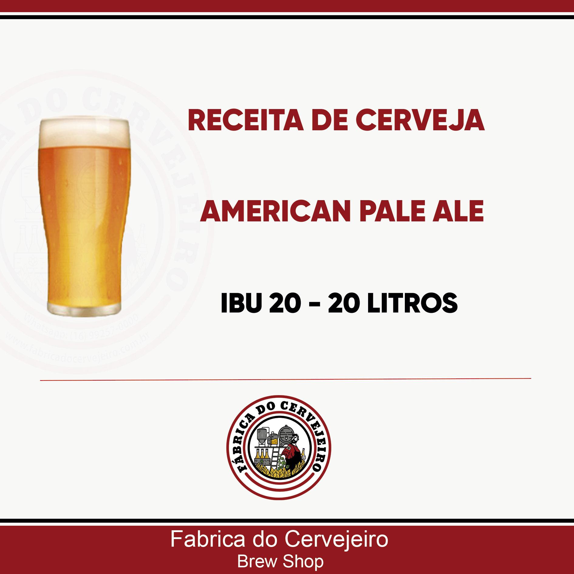 Receita de American Pale Ale 20 Litros