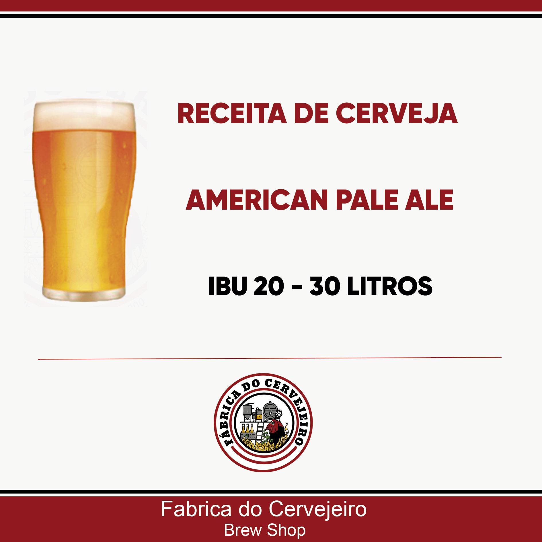 Receita de American Pale Ale 30 Litros