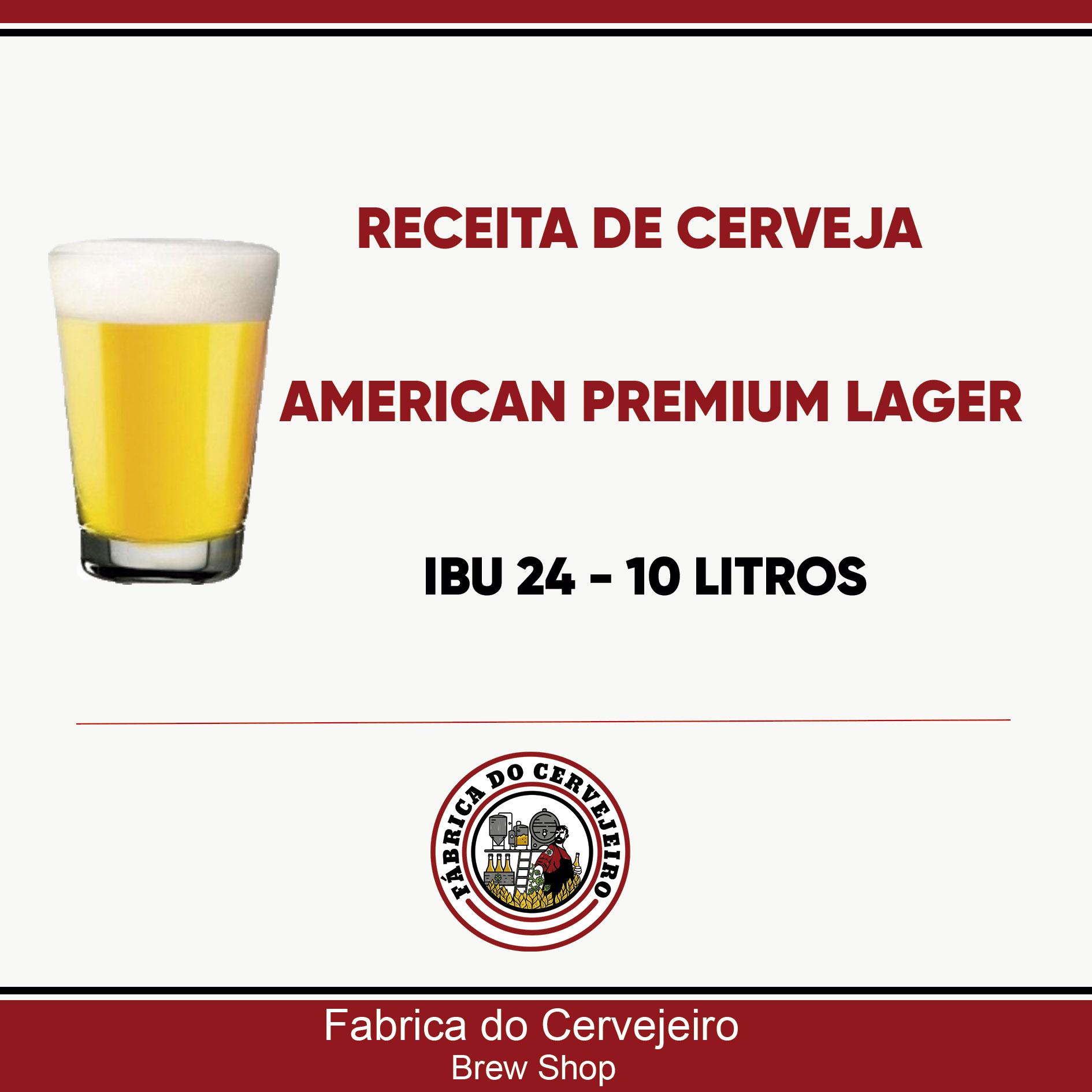 Receita de American Premium Lager 10 Litros