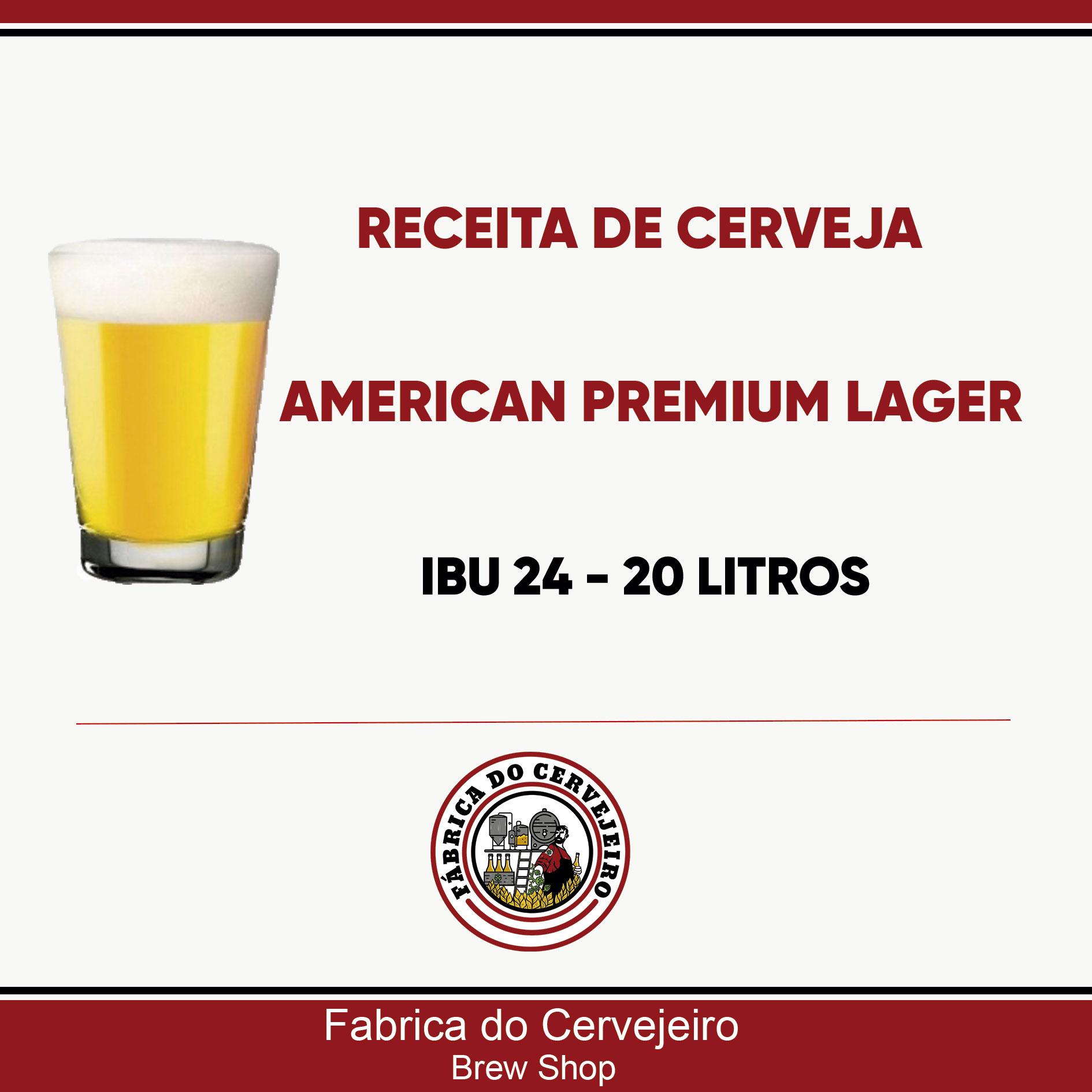 Receita de American Premium Lager 20 Litros