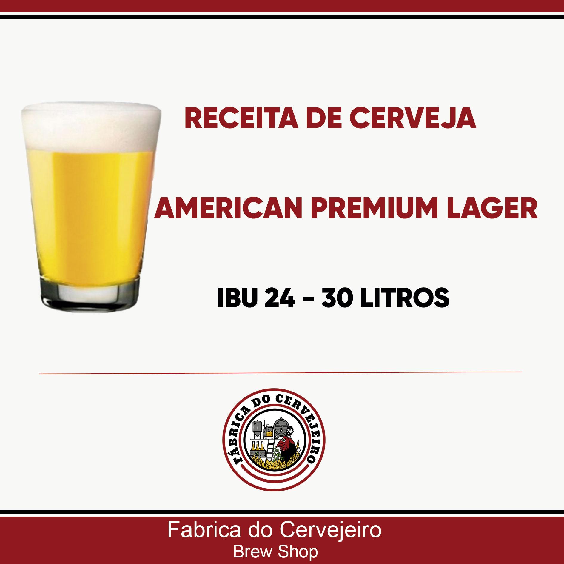 Receita de American Premium Lager 30 Litros
