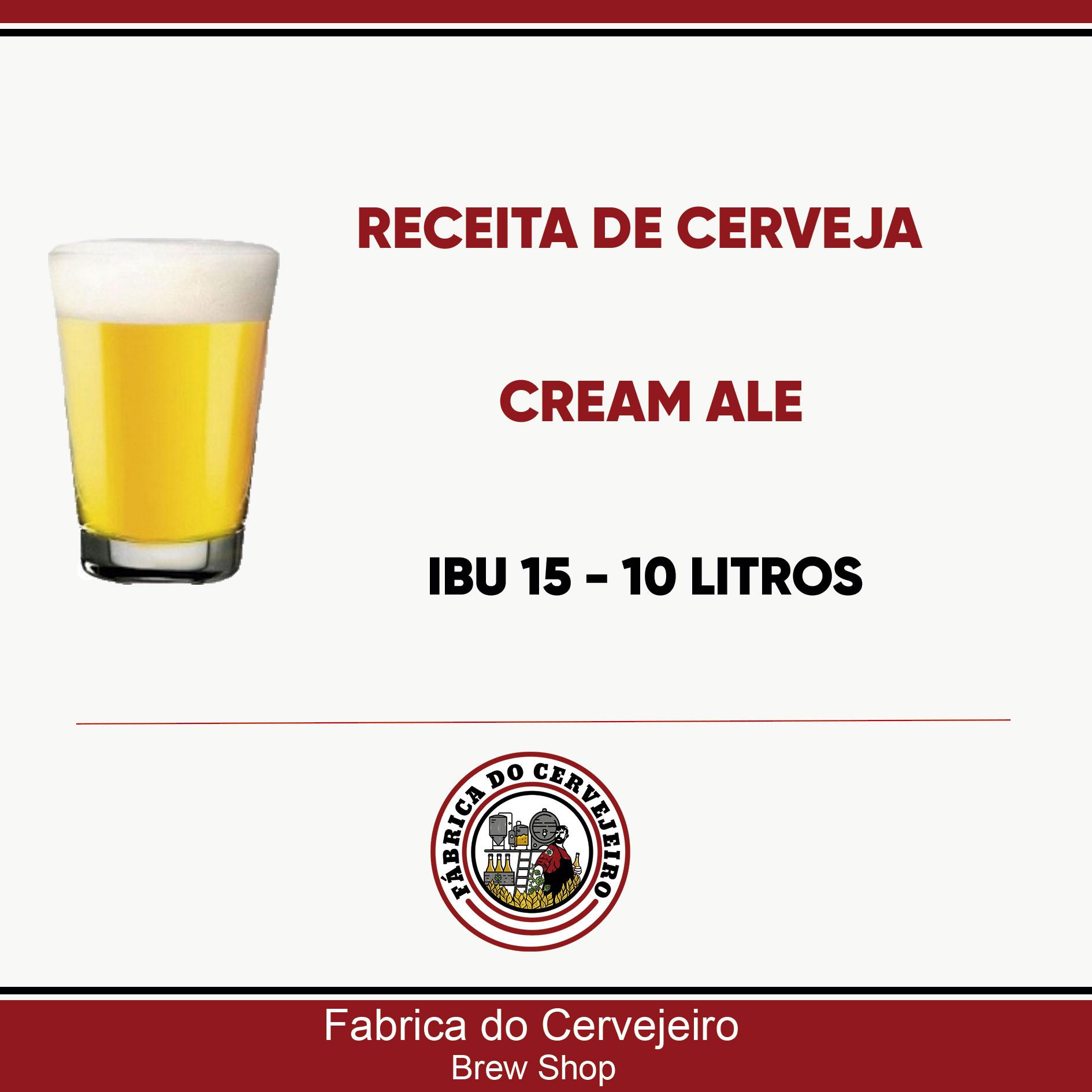 Receita de Cream Ale 10 Litros