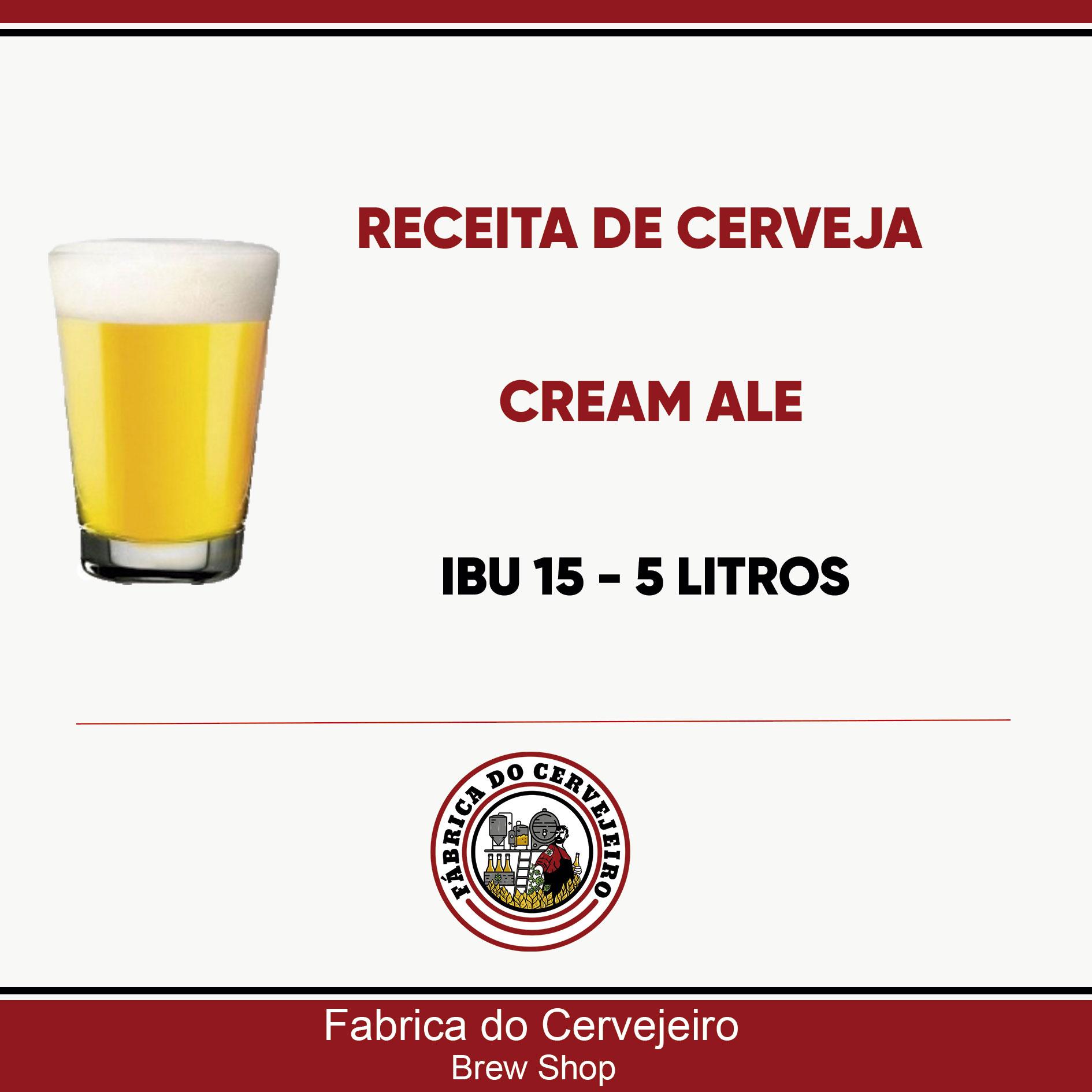 Receita de Cream Ale 5 Litros