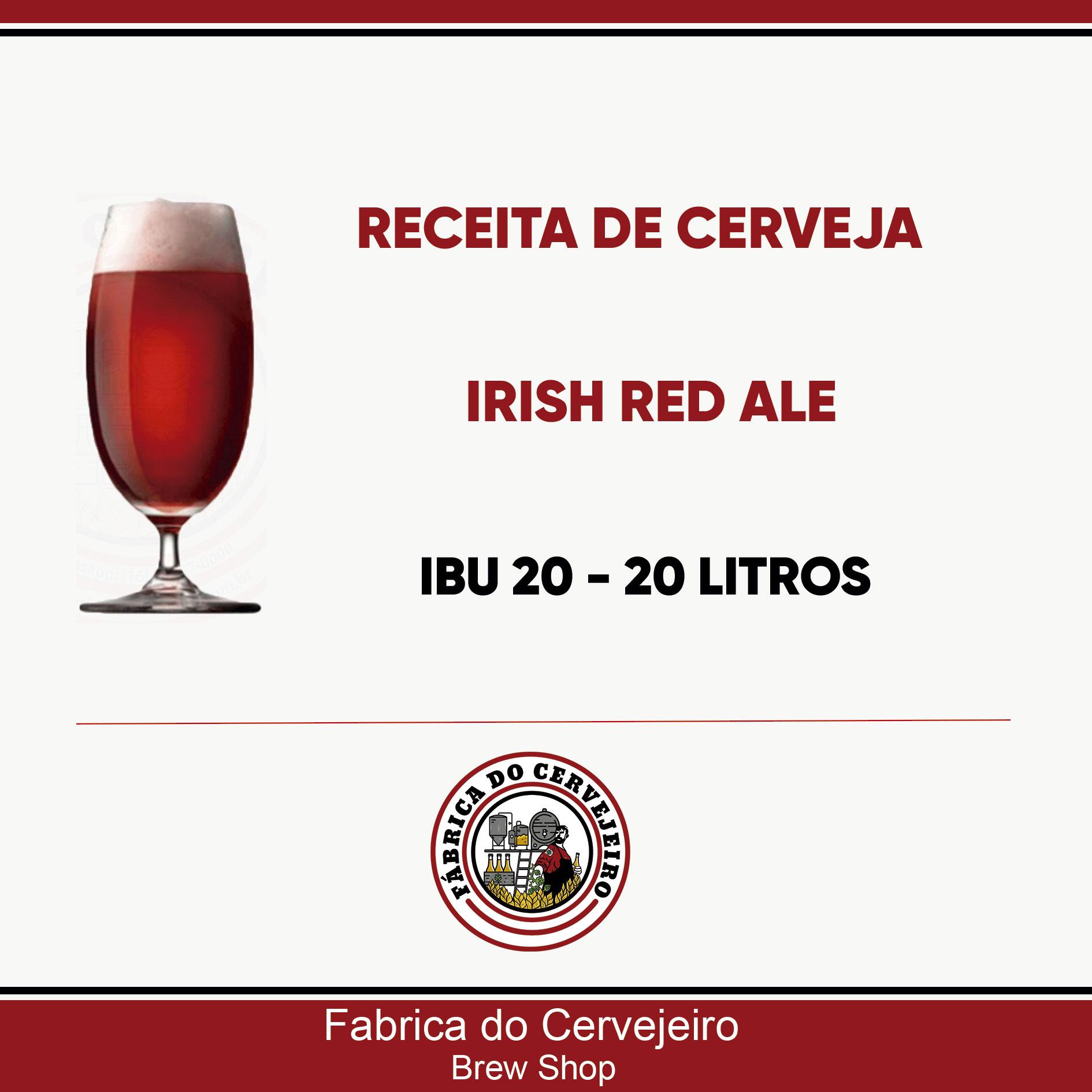 Receita de Irish Red Ale 20 Litros