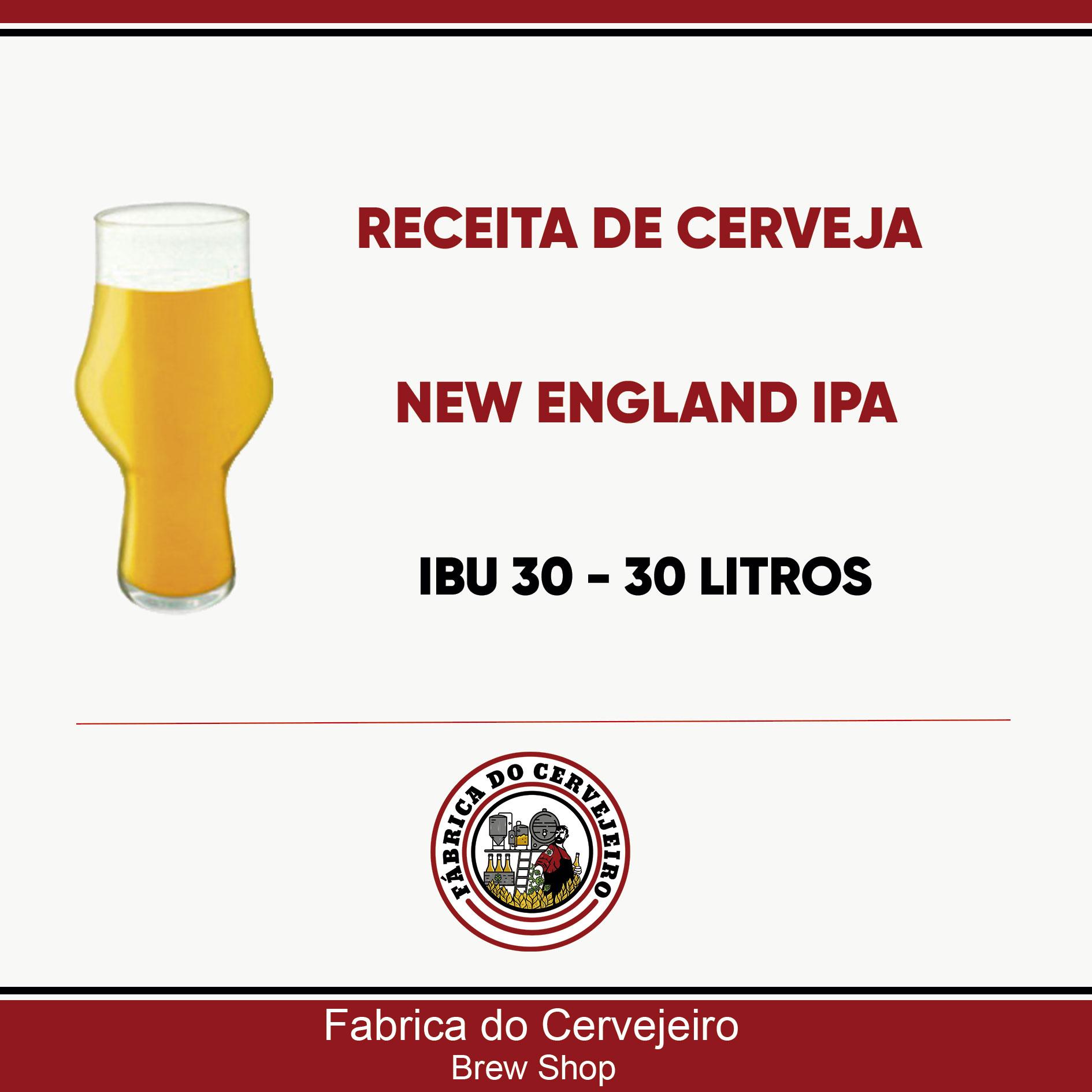 Receita de New England IPA 30 Litros