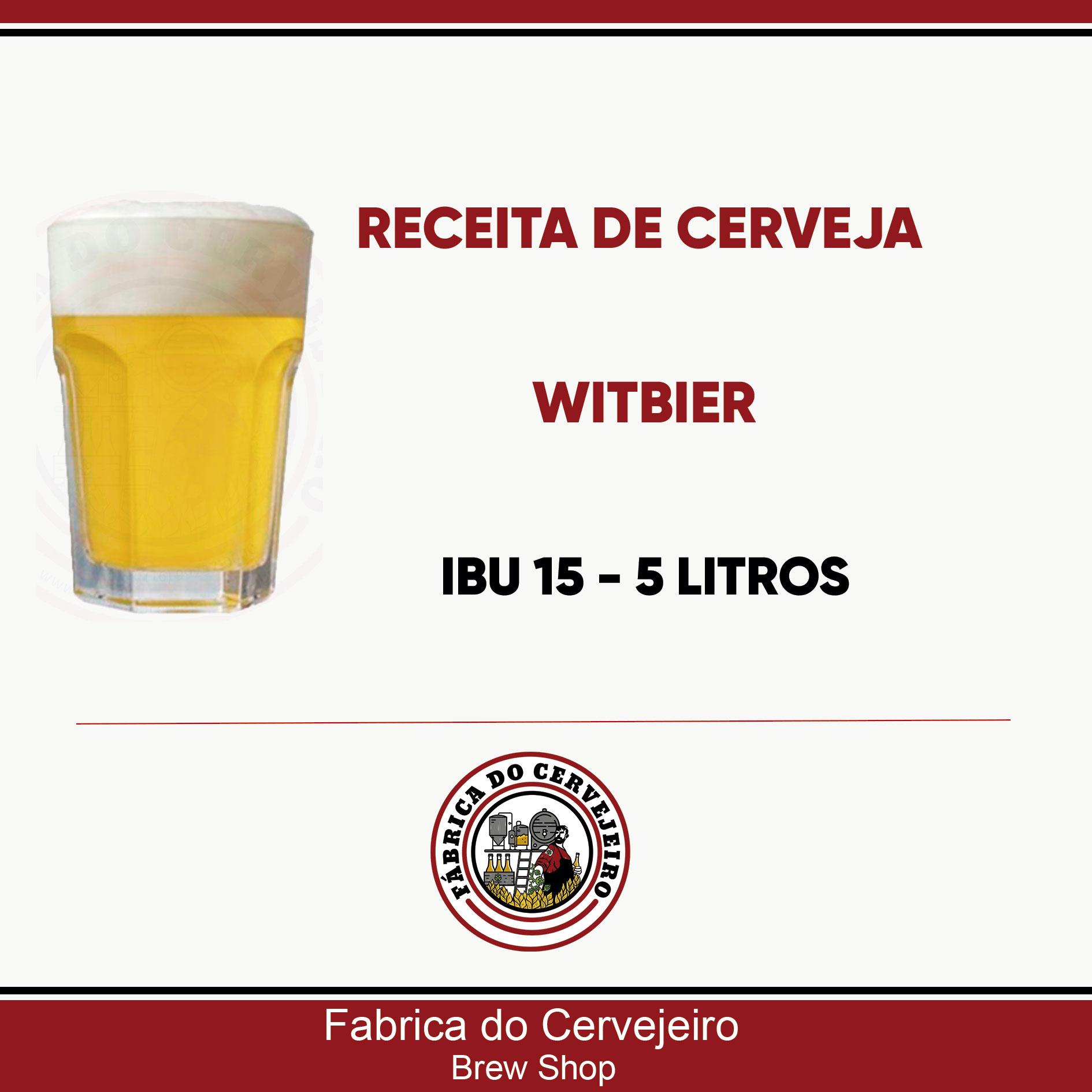 Receita de Witbier 5 Litros