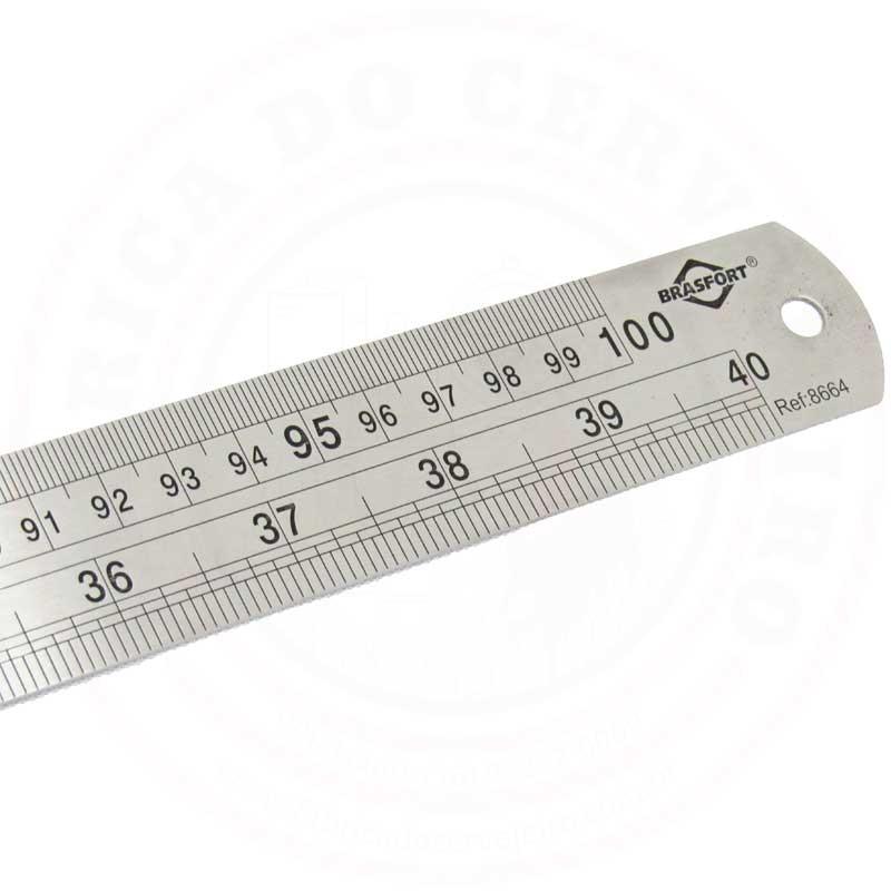 Régua Aço Inox de 1 Metro ou 40 polegadas
