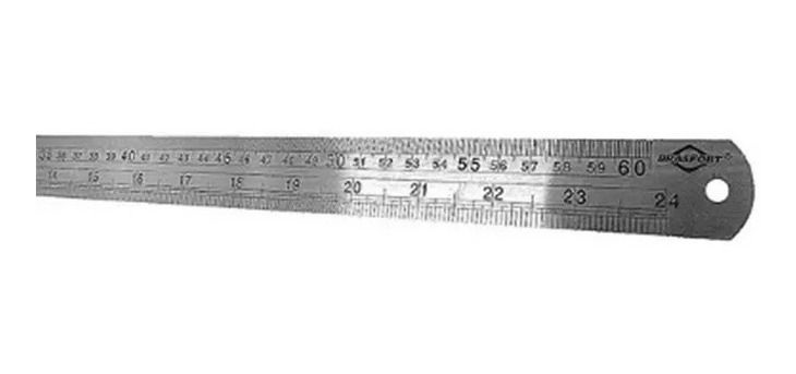 Régua Aço Inox de 60 cm ou 24 polegadas