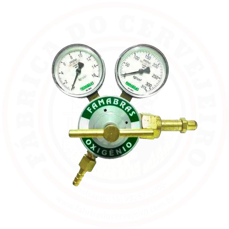 Regulador de Pressão (O2) para Oxigênio Famabras
